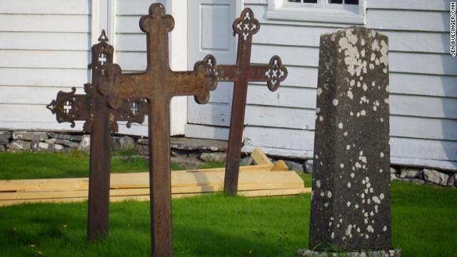 Cemetery in Alesund, Norway