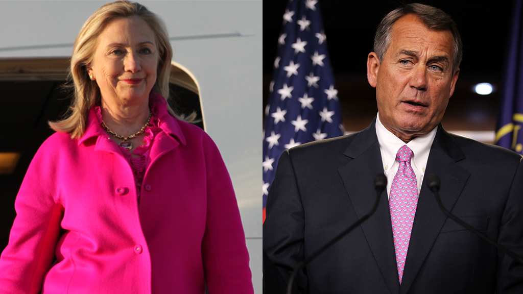 Clinton and Boehner hot pink