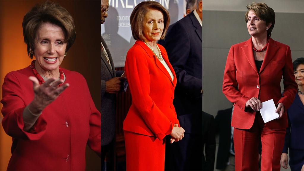 Pelosi red