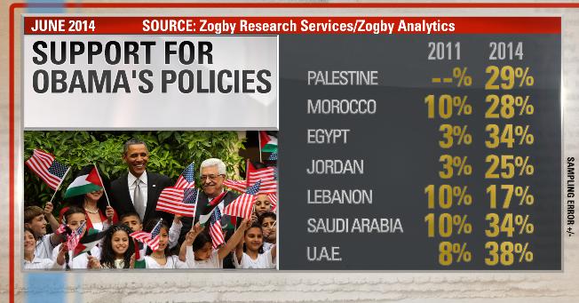 Obama arab world poll NEW