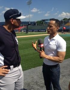 Alex Rodriguez and CNN's Jason Carroll