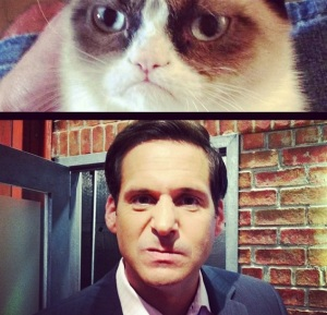 Grumpy Cat and John Berman