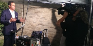 Chris Cuomo with camera man
