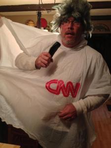 Dean Baxter as a weathercaster!