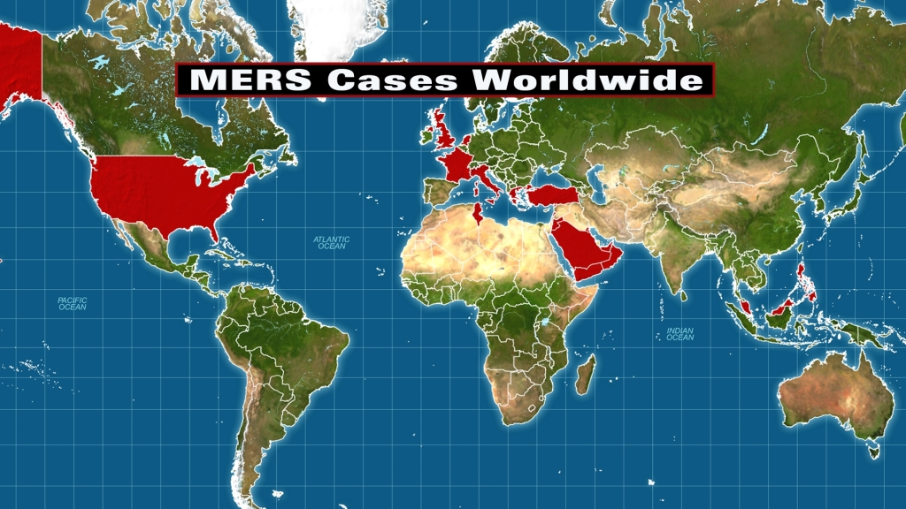 MERS Cases Worldwide