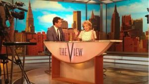"""Barbara Walters talks about her retirement with CNN's Chris Cuomo on the set of """"The View."""""""