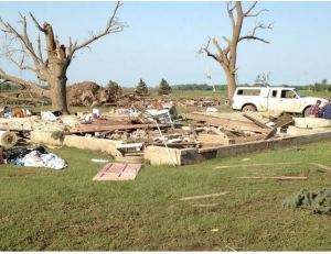 Tornado damage in Pilger, Nebraska. Photo credit: Steve Kastenbaum