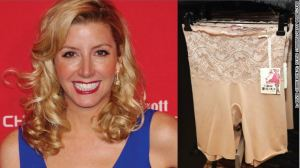 Sara Blakely was working as a sales trainer by day and a stand-up comedienne at night before she started Spanx. (L: David Shankbone/R: Astrid Stawiarz/Getty Images/file)