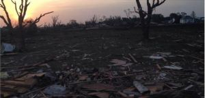 """""""Pilger,NE, residents still haven't been allowed to return home. 40-50 homes, fire station, business district..All gone,"""" shared Indra Petersons."""