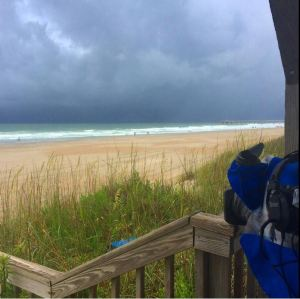 CNN's Alina Machado shares this image of ominous clouds in  Wrightsville Beach, North Carolina.