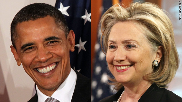 Poll: Obama, Clinton remain No. 1