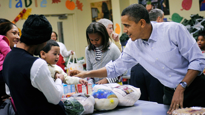 Obama's Thanksgiving message cites need for bipartisan cooperation