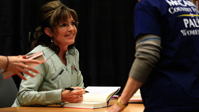 Palin book signing a tightly controlled operation