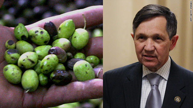 Kucinich vs. the olive
