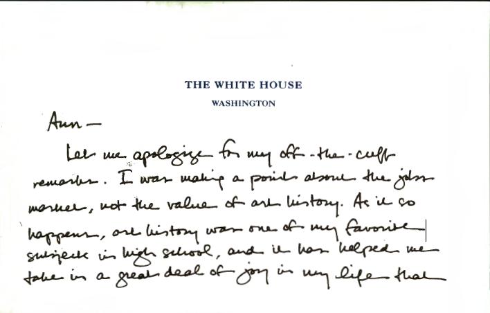 Obama letter art history professor PG1