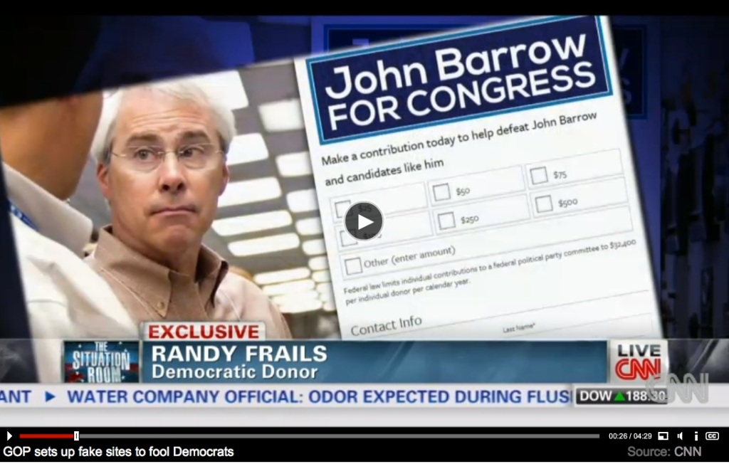 The original contribution page from the NRCC's John Barrow website. (Screen shot of Drew Griffin's report)