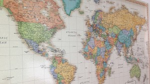 On the wall of Erin's office you can find a large world map with pins on countries she has visited over the years.