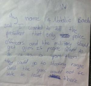 Natalie Barden's letter