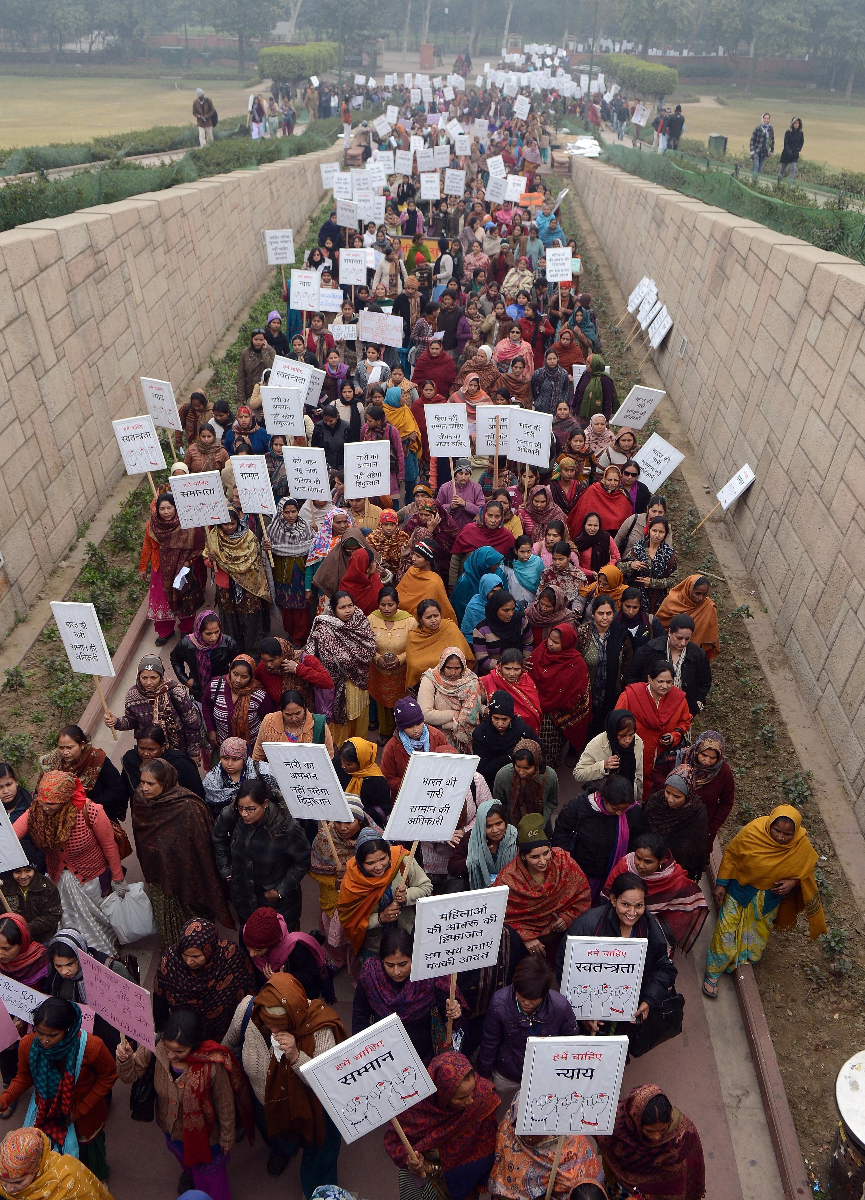 INDIA-RAPE-POLITICS-WOMEN
