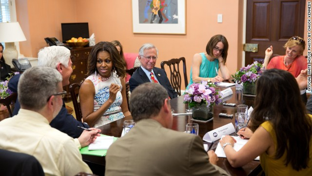 First lady fights for kids' nutrition